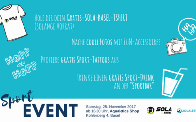 SOLA-BASEL Sport-EVENT im Aqualetics Shop am Basler Stadtlauf