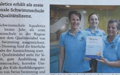 Swiss Swimming zu Besuch bei Aqualetics
