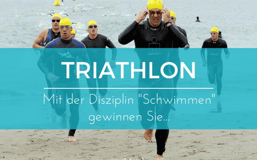 """Triathlon – mit der Disziplin """"Schwimmen"""" gewinnen Sie …"""
